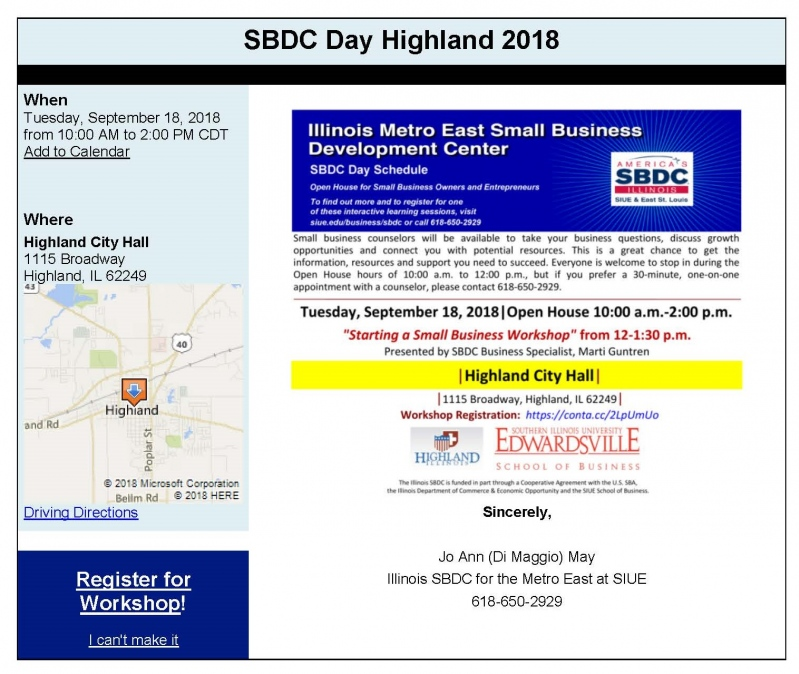 highland chamber of commerce event information