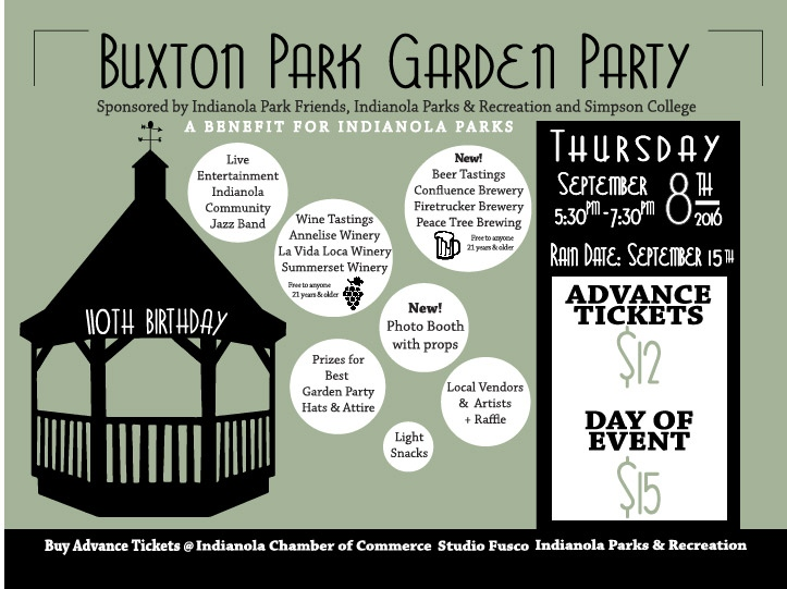 Buxton Park Garden Party Thursday, September 8, 2016