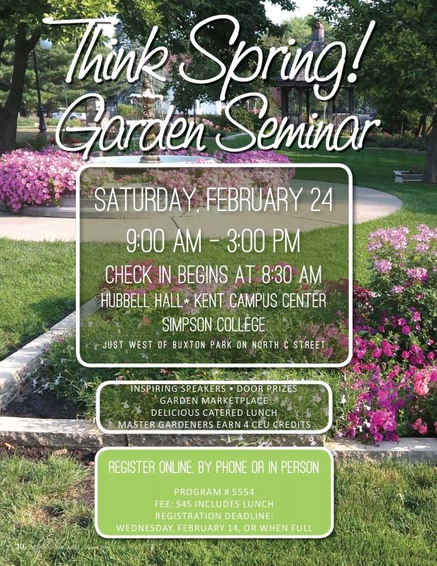 Think Spring! Garden Seminar | February 24, 2018