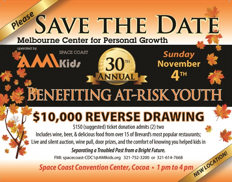 30th Annual AMIKid Space Coast Fall Fundraiser Benefiting At-Risk Youth