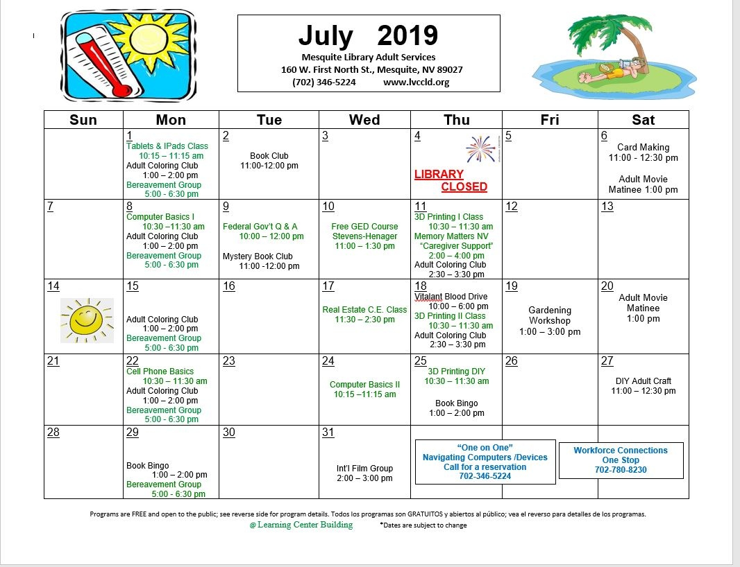 Calendar of Events - Mesquite Chamber of Commerce