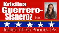 Kristina Guerrero-Sisneroz for Justice of the Peace
